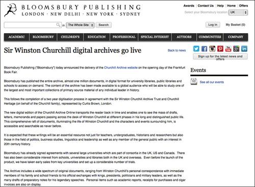 Churchill Archives